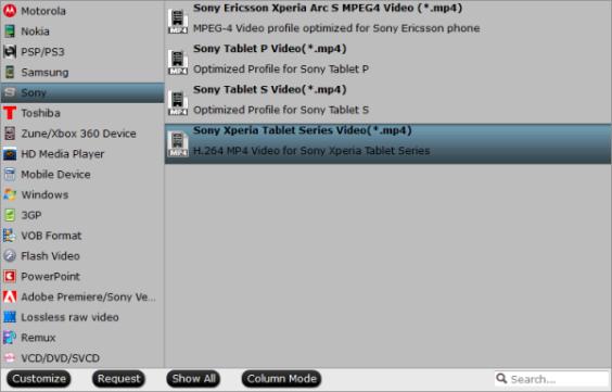 rip Blu-ray to sony xperia z 2/3 format