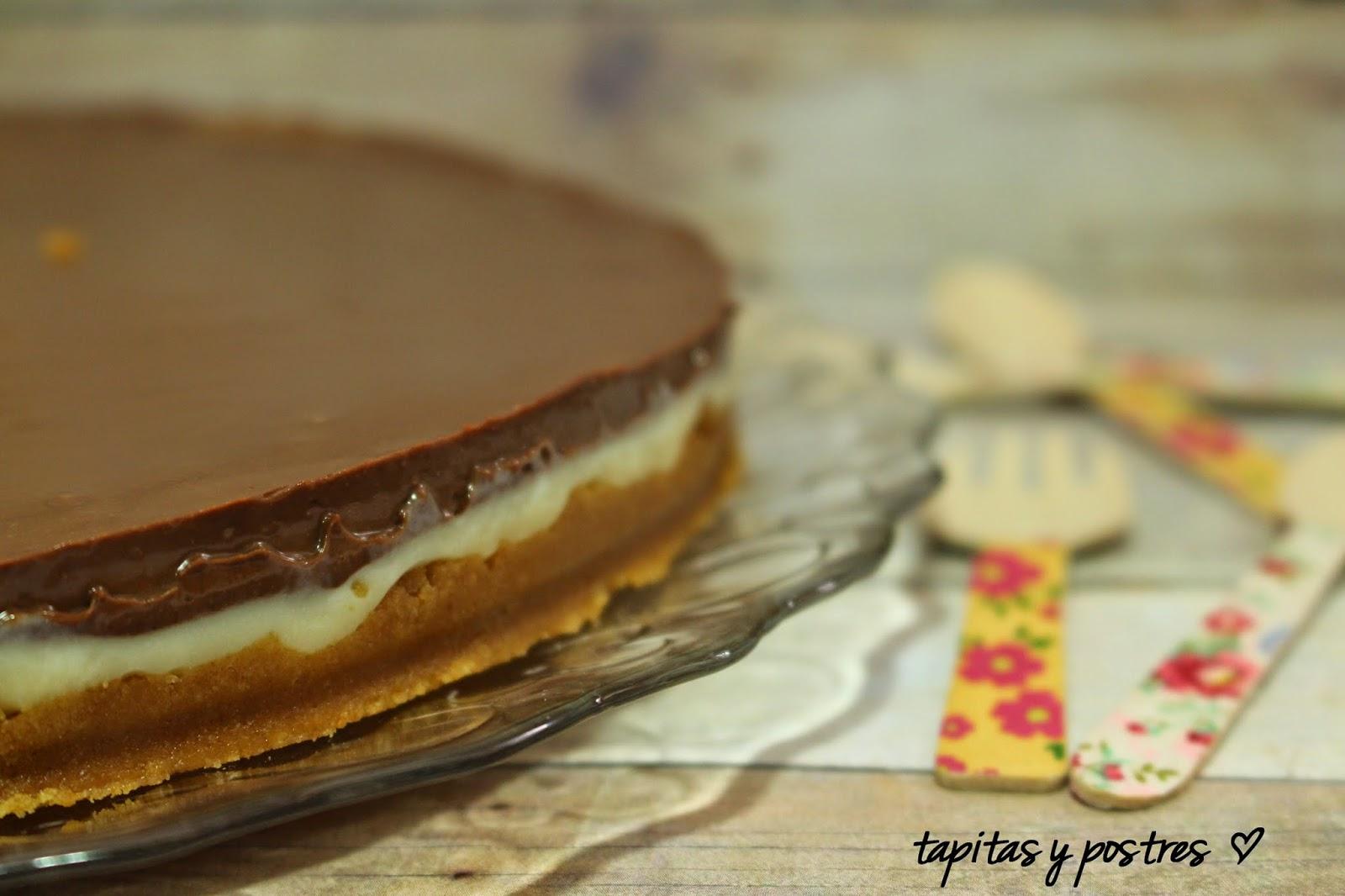 Tarta De Crema De Leche Condensada Y Chocolate.