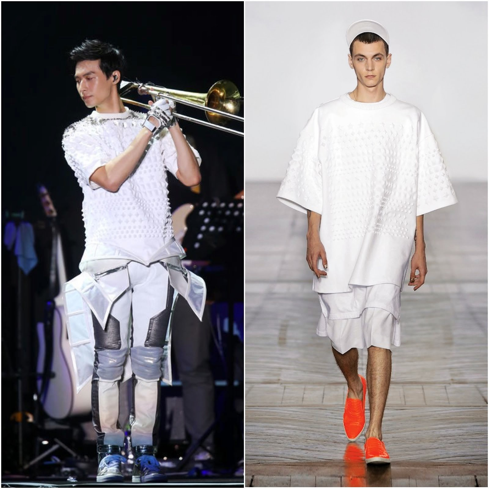 00O00 Menswear Blog: Yen-J [严爵] in Juun.J, Balmain and Givenchy - Taiwan concert July 2013 严爵首次站上小巨蛋开唱