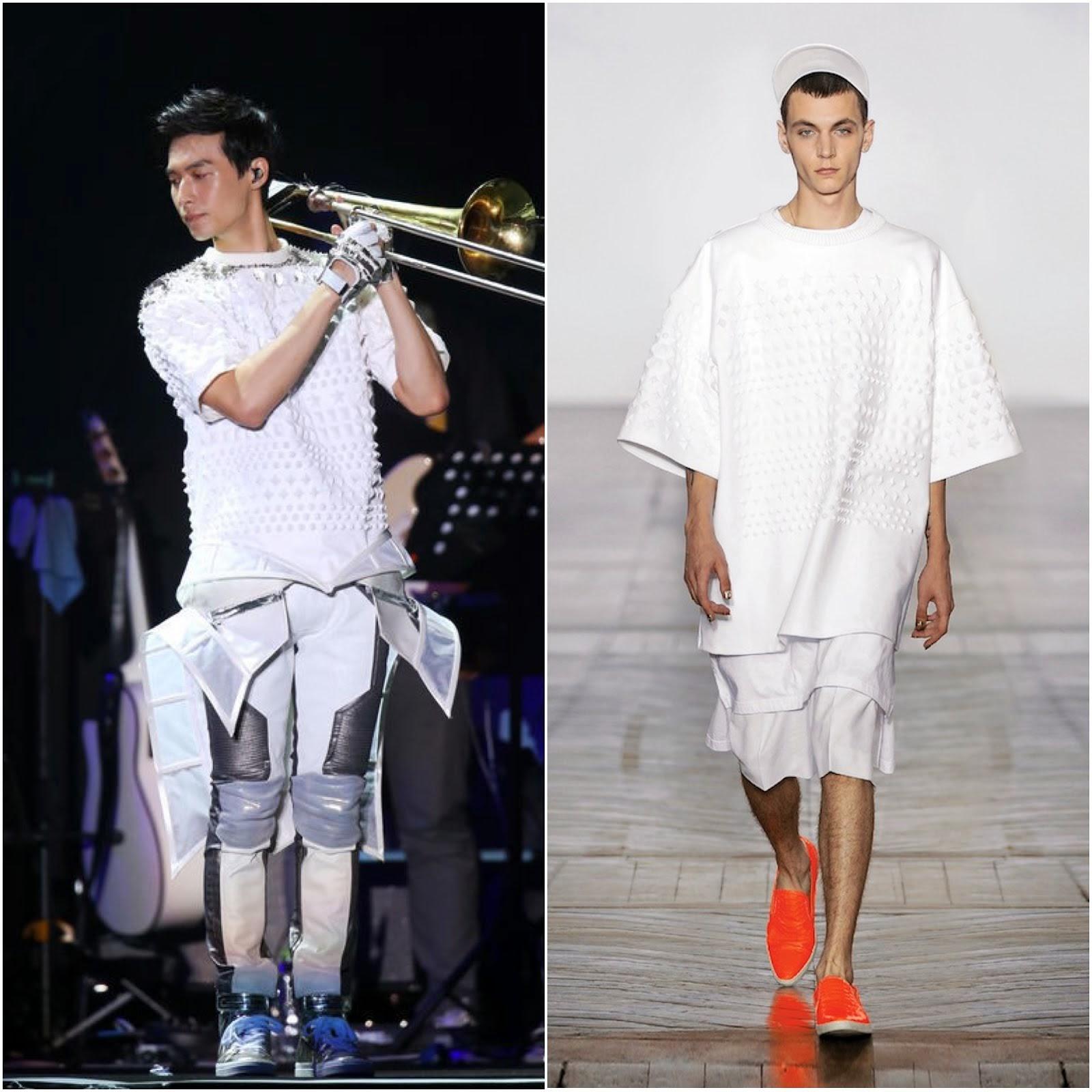 00O00 Menswear Blog: Yen-J [严爵] in Juun.J, Balmain and Givenchy - Taiwan concert July 2013 严爵首次站上小巨蛋开唱