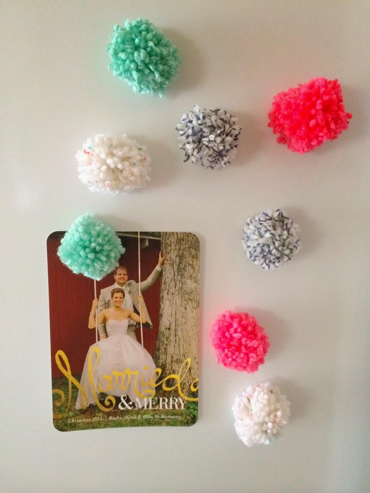 Pastel Pom Pom Magnets - Mini Pom Pom Magnets