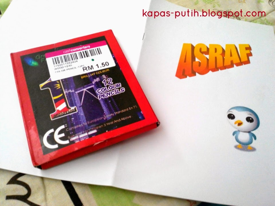 Asyraf first Color Book made by TokPa