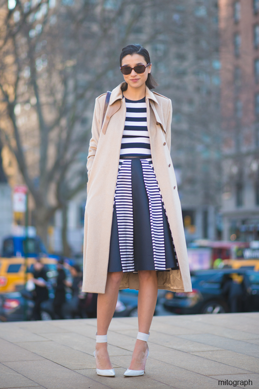 mitograph Lily Kwong wearing Michael Kors Skirt and Top Altuzarra-pumps Max Mara Jacket Emmaline Kuo bag New York Fashion Week 2013 2014 Fall Winter NYFW Street Style Shimpei Mito