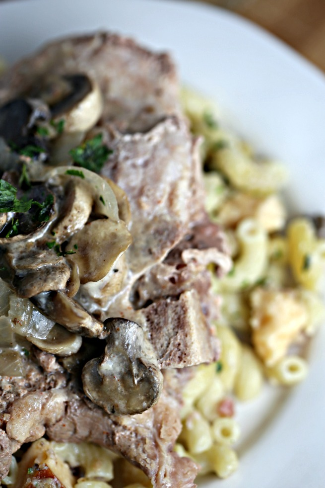 Mushroom Onion Slow Cooker Pork Chops