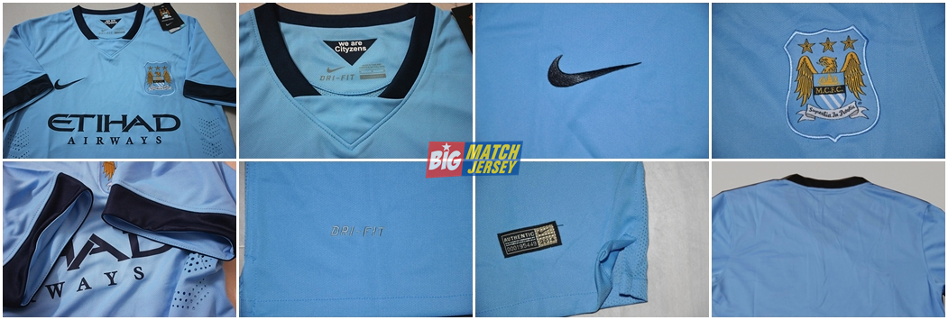 Detail Baju Jersey Bola Nike Manchester City Away Musim 2014-2015