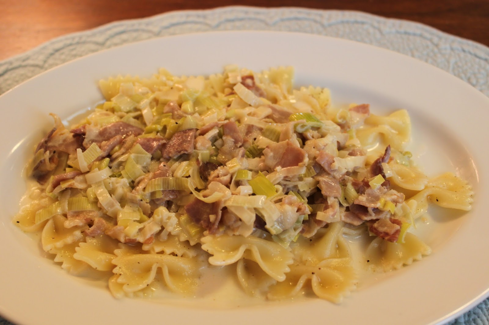 FROM A WRITER'S KITCHEN: Pasta with Pancetta and Leeks