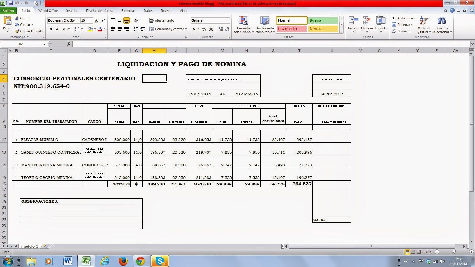 liquidaci n de n mina 2014 estrategias metodol gicas