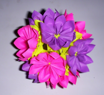 Make origami kusudama flower variation 3d easy arts and crafts for make origami kusudama flower variation 3d mightylinksfo