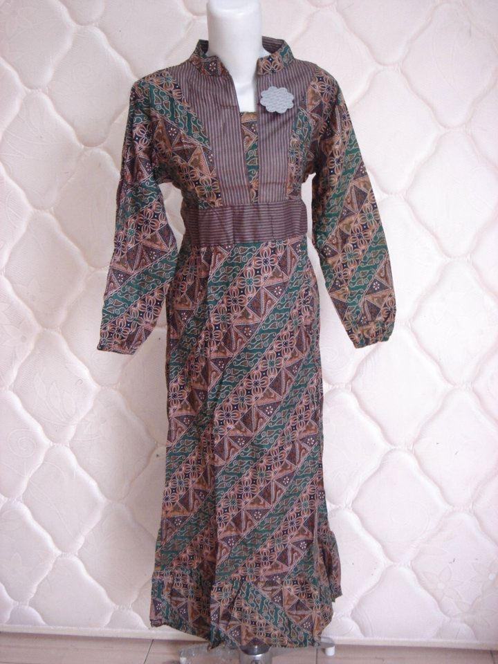 Gamis Batik 2b Rumah Butik Bunda Raha Toko Baju Batik