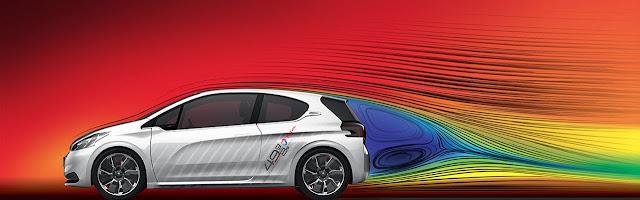Peugeot 208 HYbrid Fe aerodynamics