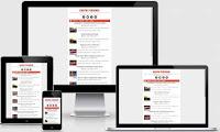 template blog responsive design minimalis