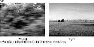 Совет 37. При съемке с окна поезда необходимо делать проводку камеры, для исключения смазывания снимка.