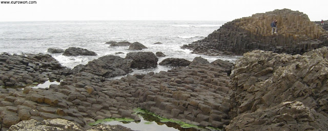 Columnas de basalto en la Calzada de los Gigantes de Irlanda del Norte