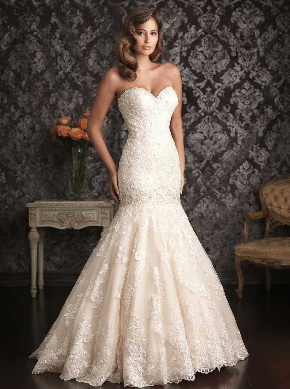 Ivory Mermaid Style Wedding Dresses Design Ideas Photos HD