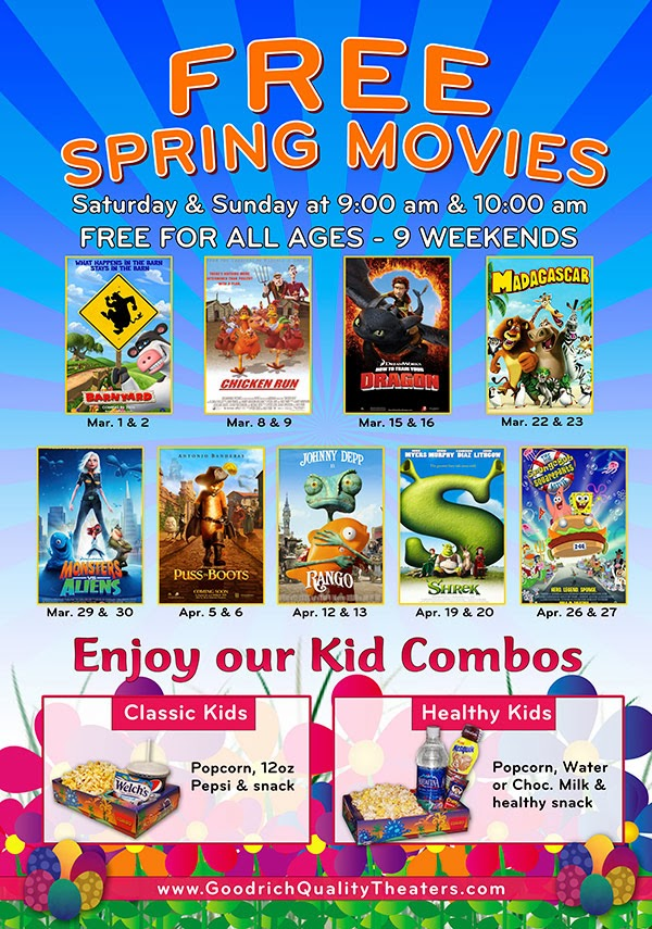Goodrich Quality Theaters Lafayette In >> Savvy Spending Free Spring Movies At Goodrich Quality Theaters