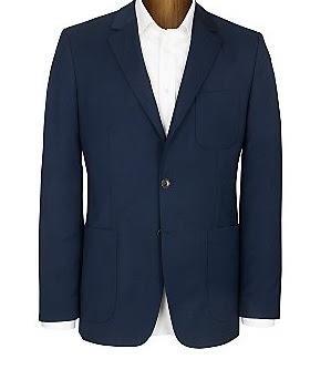 Single breasted blue blazer