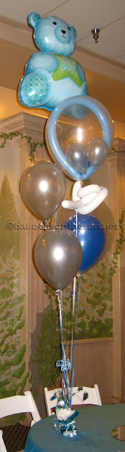 Balloon Bouquets For Boy Baby Shower8