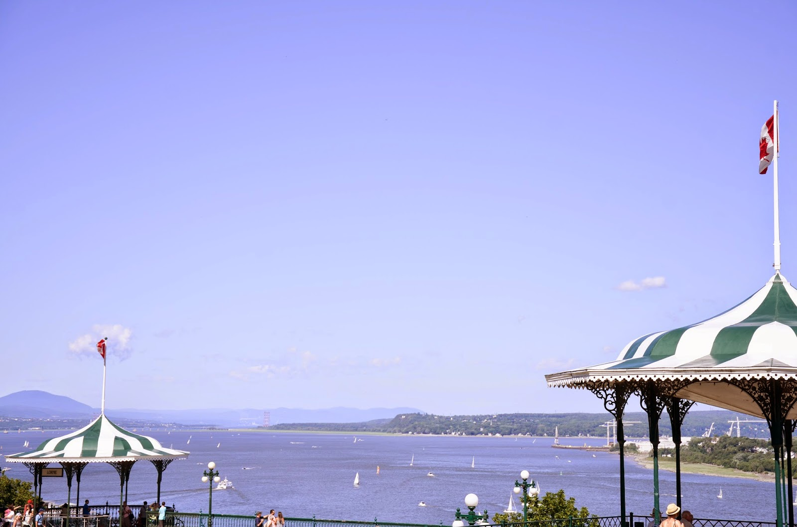 Historic Gazebos overlooking the Saint Lawrence River, Quebec City
