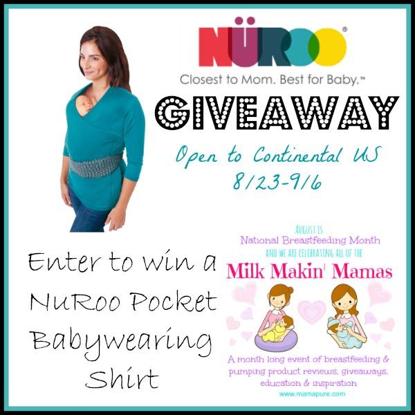 #MilkMakinMamas NuRoo Babywearing Shirt Giveaway ends 9/6