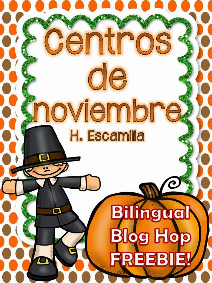 http://www.teacherspayteachers.com/Product/November-Centers-in-Spanish-Bilingual-Blog-Hop-FREEBIE-1542170