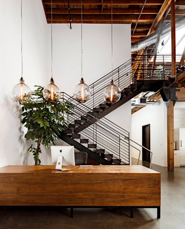 Warehouse turned into a loft office interior design for Loft office design ideas