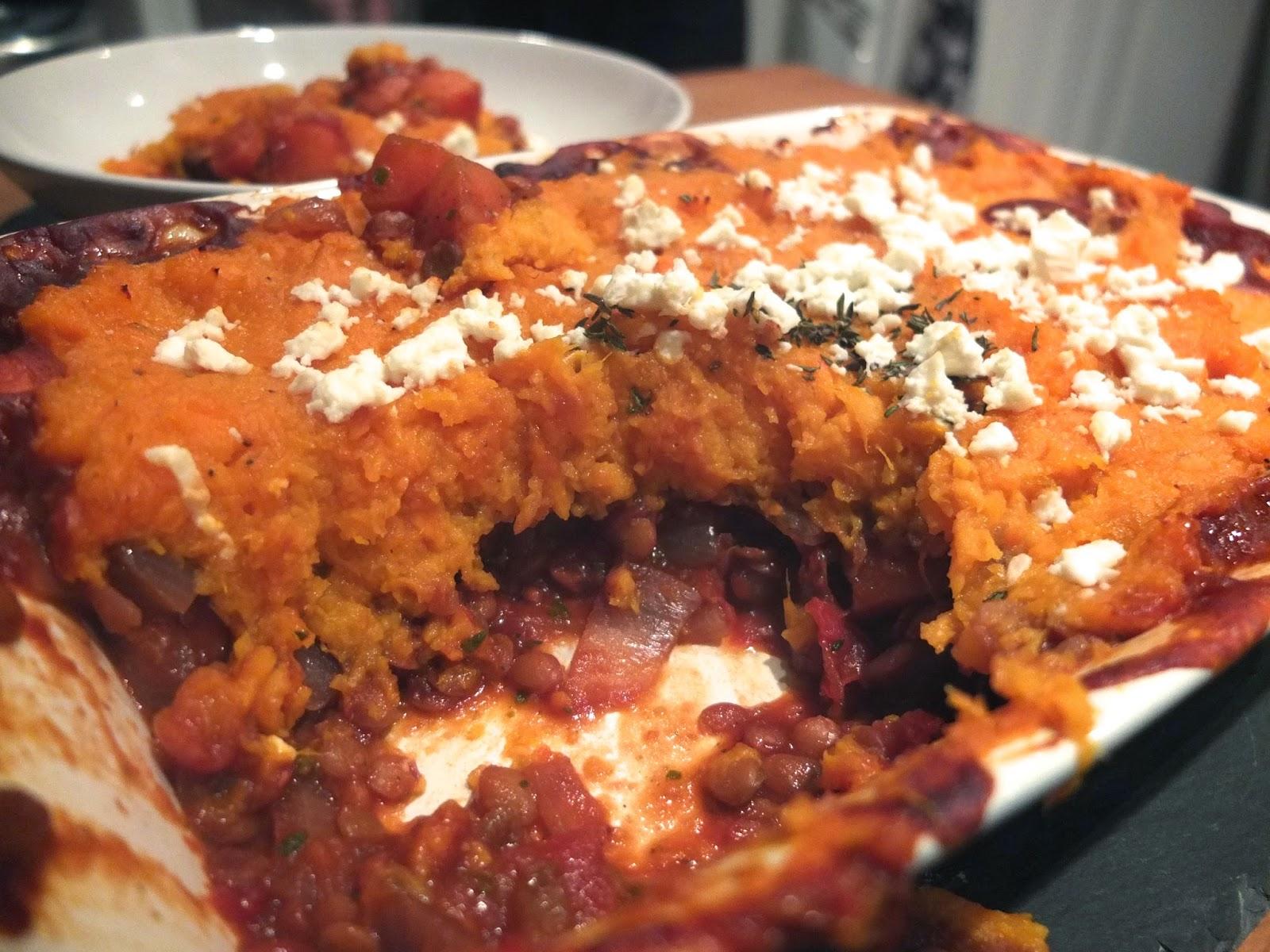 Sweet potato, Lentil and Carrot Shepherd's pie (vegetarian) | Recipe