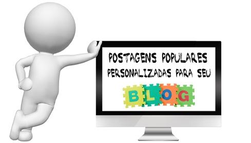 postagens populares personalizadas para blog