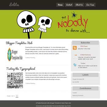 Lolita blogger template. rotate background banner blogger template for blog