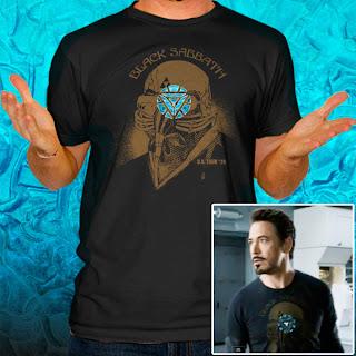 Black Sabbath Iron Man Tony Stark The Avengers US Tour 78 Arc T-Shirt Tee LL10