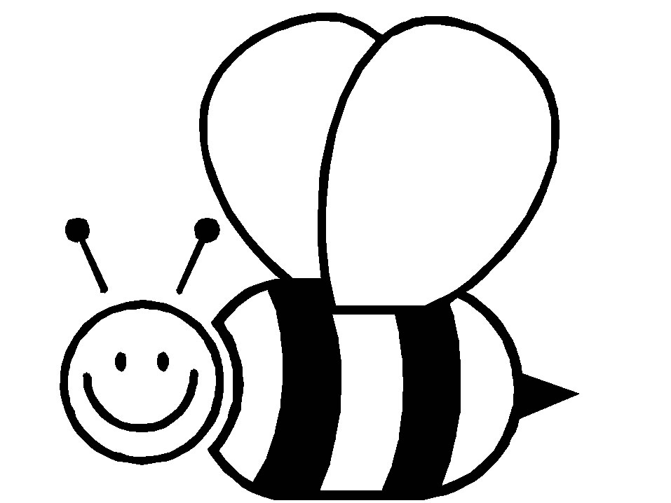 Cute bee coloring pages for kids drawing for Bee coloring pages for kids