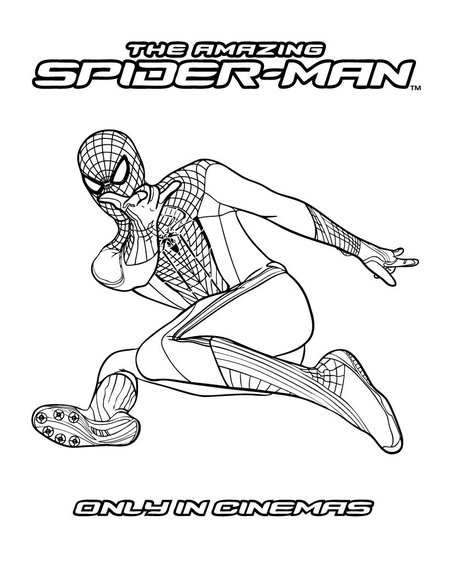 the amazing new spiderman coloring pages
