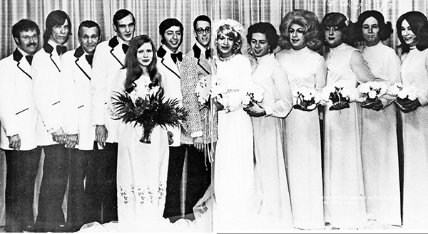Transwomen wedding party in Plainville, Connecticut, in 1974.