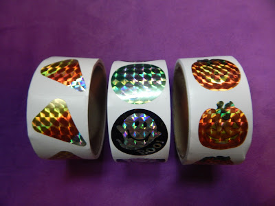 Image result for roll of halloween stickers
