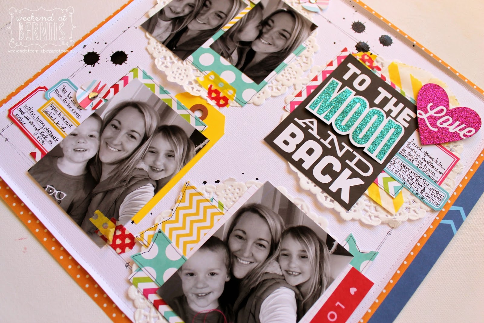 To the moon and back layout by Bernii Miller using MAMBI pocket pages.