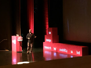 Bret Marshall presenting at CanUX