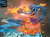 CDemony Chaosu Płonący Rydwan Tzeentcha WiP 8 malowanie płomieni