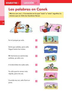 Apoyo Primaria Español 2do grado Bloque 1 lección 17 Las palabras en Canek