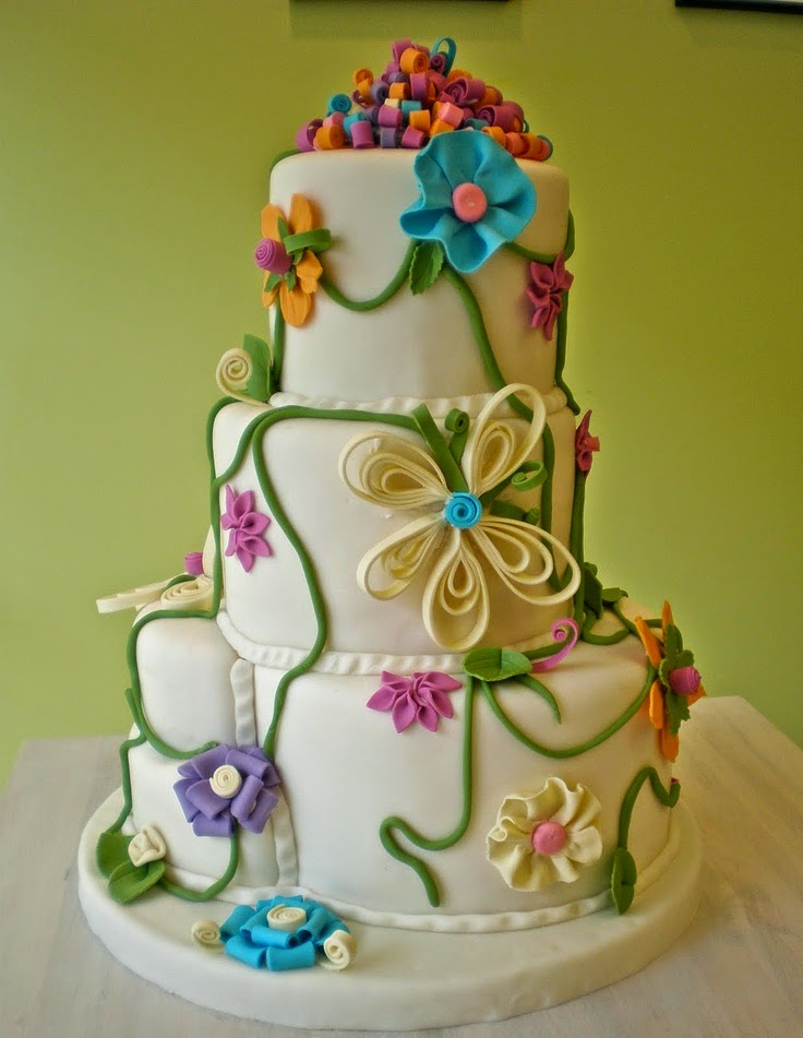 3d paper quilling wedding theme