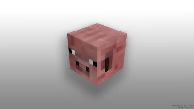 Minecraft pig desktop wallpaper