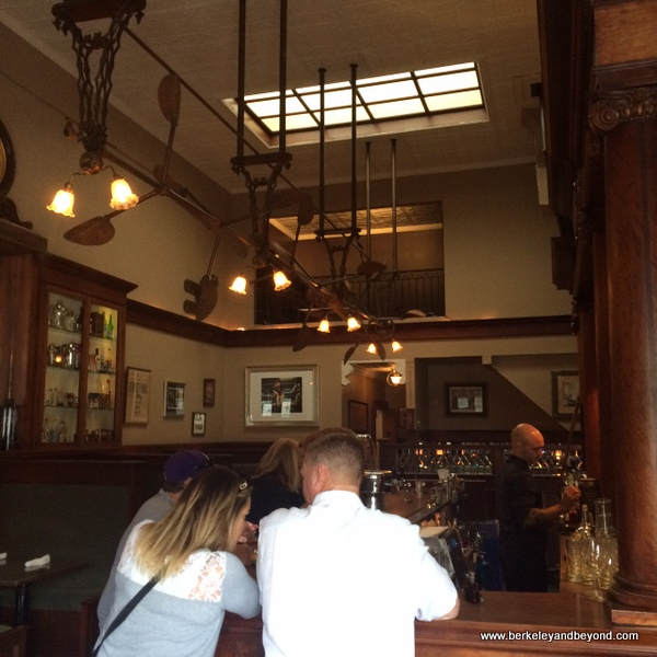 interior of Comstock Saloon in San Francisco, California