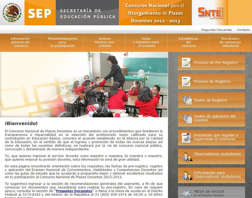 Resultados concurso nacional alianza 2012 for Concurso para plazas docentes
