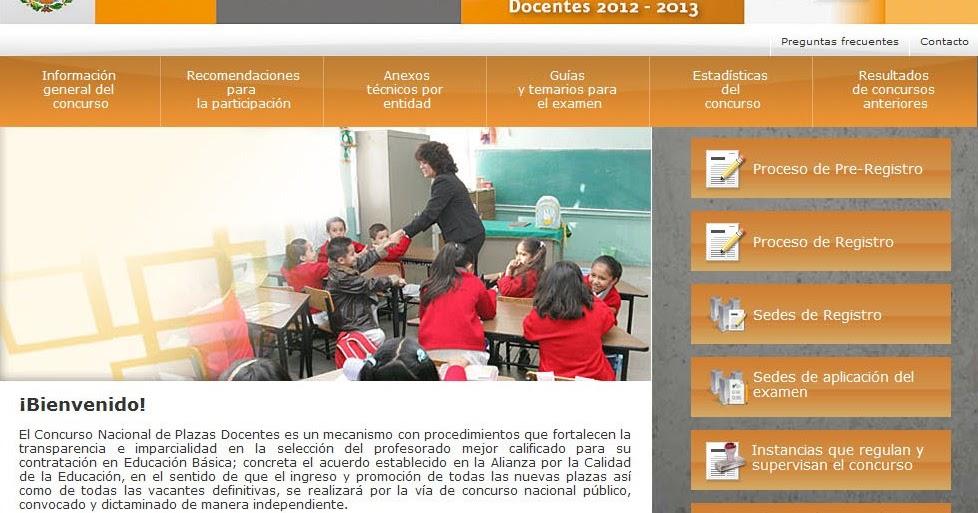 Resultados concurso nacional alianza 2012 2013 22 julio for Concurso plazas docentes
