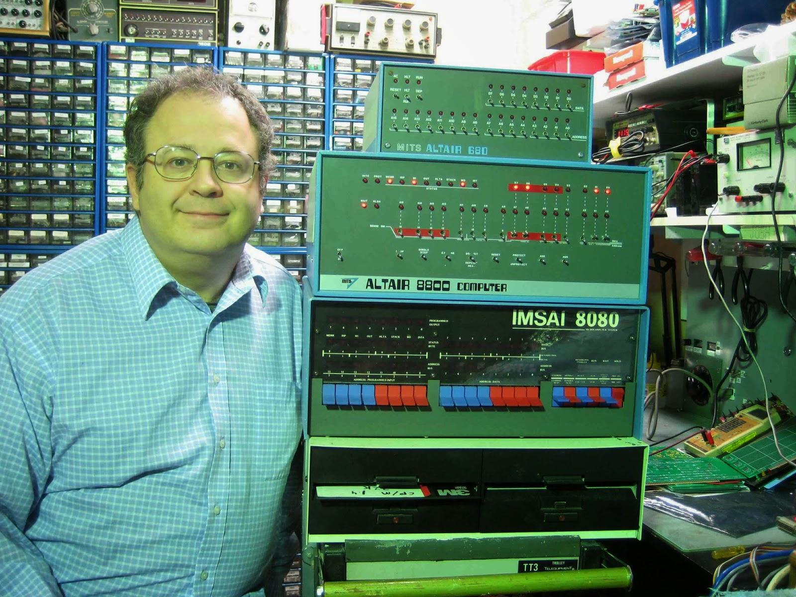 """Josh Bensadon his """"MITS 680""""  """"IMSAI 8080"""""""