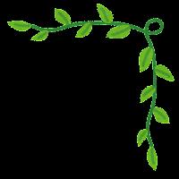 かわいいコーナー素材のイラスト「葉っぱ」