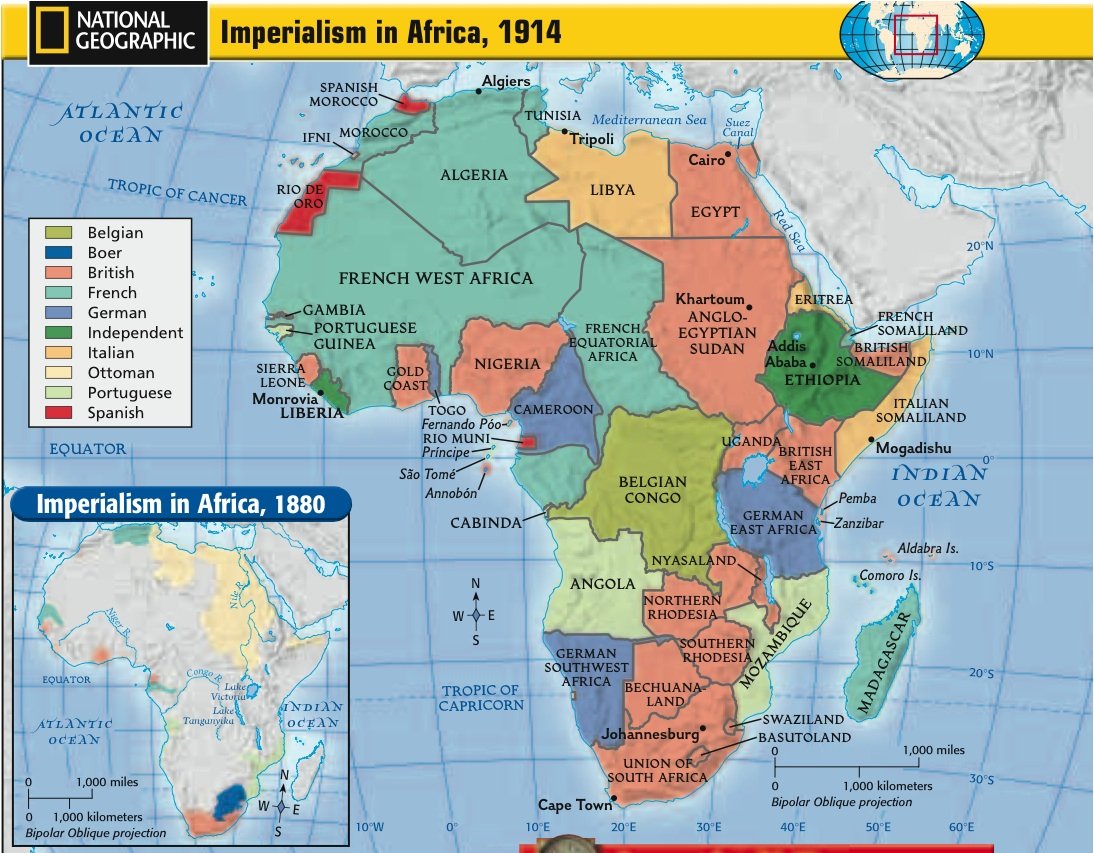 "imperialism 1850 1914 in africa The ""new"" imperialism 1850 - 1914 the boer war and then british south africa under ""afrikaner"" control which two countries in africa were not colonized."