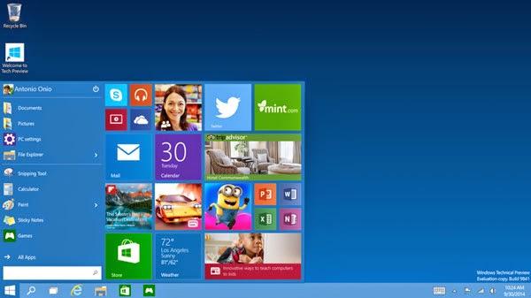 Tombol Start Menu Windows 10