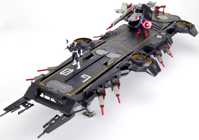 San Diego Comic-Con 2012 Exclusive Marvel Universe The Avengers Helicarrier and Captain America and SHIELD Maria Hill Action Figures by Hasbro