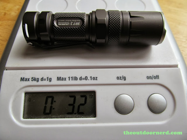 Nitecore SRT3 Defender EDC Flashlight: On Scale Without AA Extender
