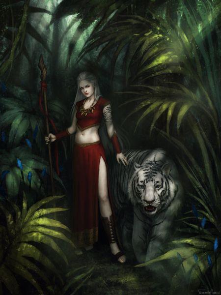fernanda suarez ilustrações fantasia mulheres Feiticeira da selva