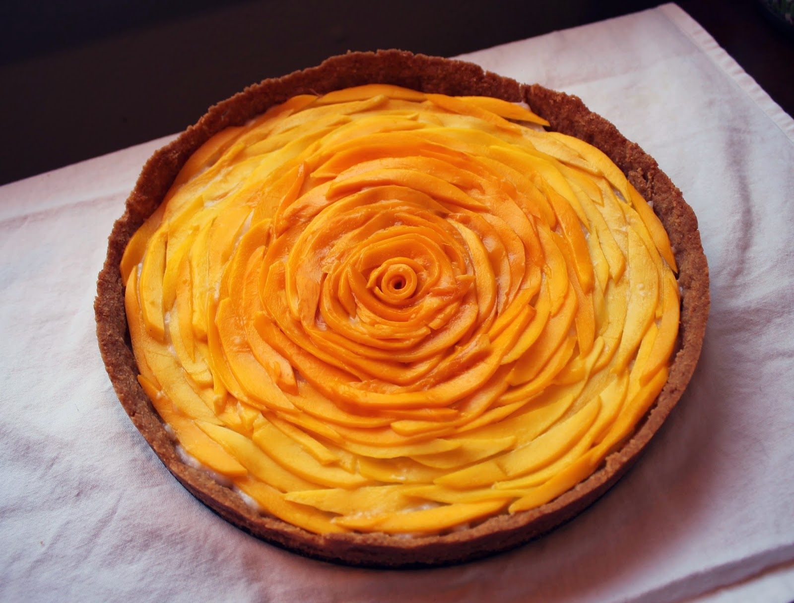Mango Sticky Rice Inspired Tart with Coconut & Cashew Crust